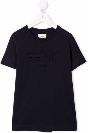 Fendi Boys T-shirts - Embossed logo T-shirt