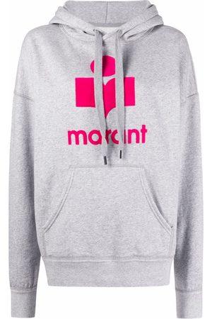 Isabel Marant Mansel logo-print hoodie - Grey