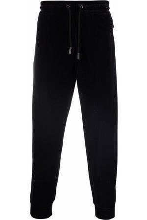 Armani Drawstring velour track pants