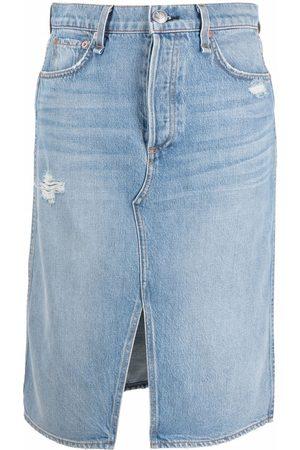 RAG&BONE Distressed denim skirt