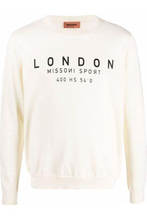 Missoni Logo-print sweatshirt - Neutrals