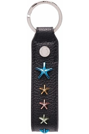 Jimmy Choo Men Keychains - Decorative-plaque leather keyring