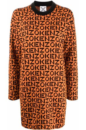 Kenzo Knitted logo shift dress