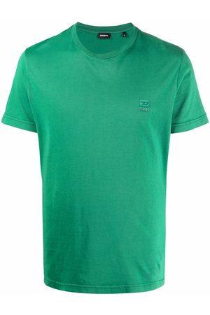 Diesel Logo-patch cotton T-shirt