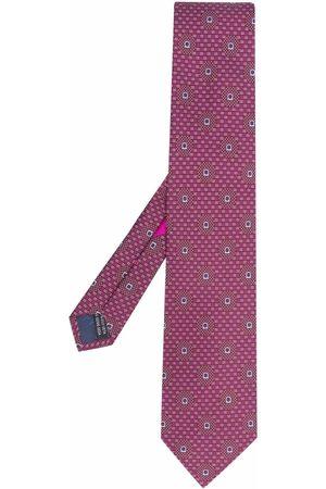 Salvatore Ferragamo Abstract-print silk tie