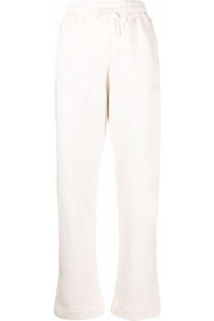 Ganni Women Sweatpants - Logo-embroidered sweat pants - Neutrals