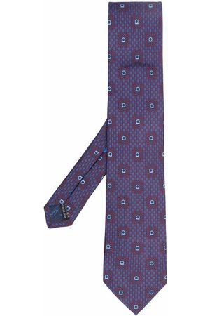 Salvatore Ferragamo Men Bow Ties - Abstract-print silk tie