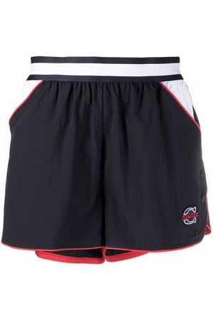 Coach Logo embroidered track shorts