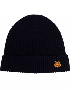 Kenzo Patch-embellished ribbed-knit beanie
