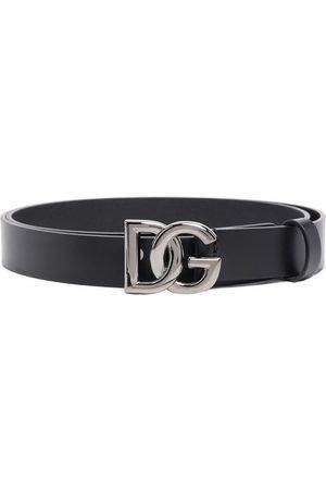 Dolce & Gabbana Men Belts - Crossed DG logo buckle belt