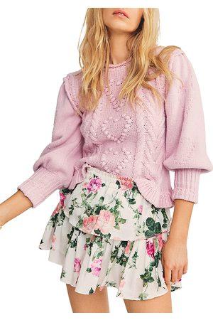 LOVESHACKFANCY Women Printed Skirts - Ruffled Printed Mini Skirt