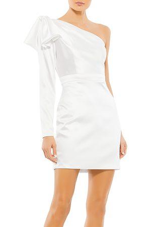 Mac Duggal Ruffle Shoulder Mini Dress