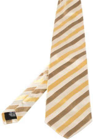 HUGO BOSS & Yellow Striped Silk Tie