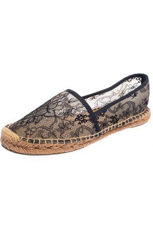 Dolce & Gabbana /Beige Lace Espadrille Flats Size 41