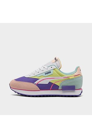 PUMA Women Casual Shoes - Women's Future Rider Twofold SD Neon Pop Casual Shoes Size 5.5 Nylon/Suede