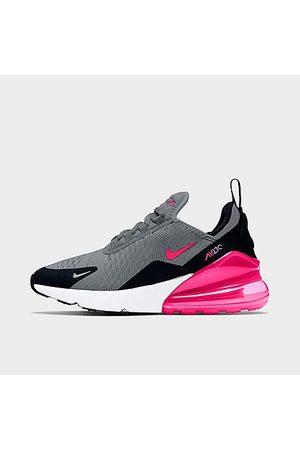 Nike Girls' Big Kids' Air Max 270 Casual Shoes in Grey/Smoke Grey Size 3.5