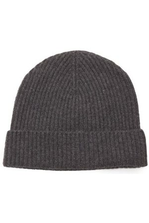Johnstons Of Elgin Ribbed Cashmere Beanie Hat - Womens - Dark Grey