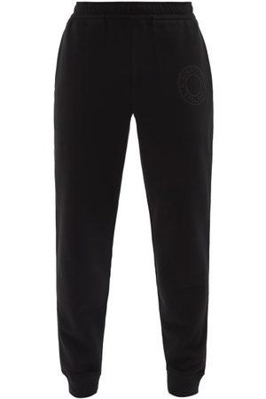 Burberry Men Sweatpants - Rogan Logo-embroidered Cotton-jersey Track Pants - Mens
