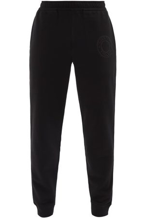Burberry Rogan Logo-embroidered Cotton-jersey Track Pants - Mens