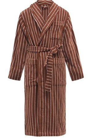Tekla Men Bathrobes - Striped Cotton-terry Bathrobe - Mens
