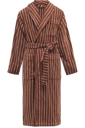 Tekla Striped Cotton-terry Bathrobe - Mens