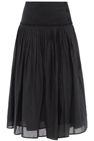 MERLETTE Morris Pleated Cotton-voile Skirt - Womens