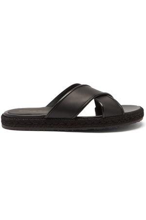 Gianvito Rossi Cesare Crossover-strap Leather Sandals - Mens
