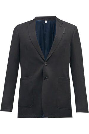 Burberry Single-breasted Wool-blend Crepe Suit Jacket - Mens