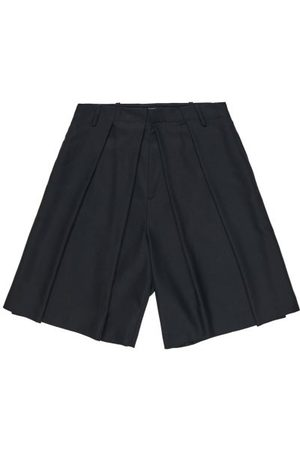 Charles Jeffrey Loverboy Side-stripe Pleated Wide-leg Shorts - Mens
