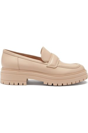 Gianvito Rossi Argo Leather Loafers - Womens