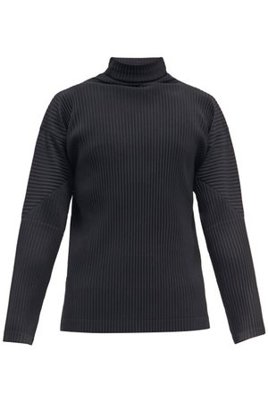 HOMME PLISSÉ ISSEY MIYAKE Roll-neck Technical-pleated Jersey T-shirt - Mens