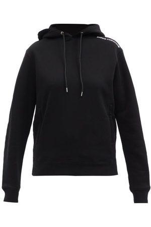 Paco rabanne Logo-print Cotton-jersey Hooded Sweatshirt - Womens