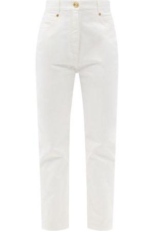 Balmain Women Boyfriend Jeans - Logo-embroidered Boyfriend Jeans - Womens