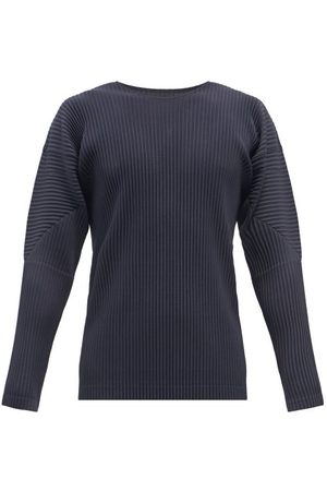 HOMME PLISSÉ ISSEY MIYAKE Technical-pleated Jersey Long-sleeves T-shirt - Mens - Navy