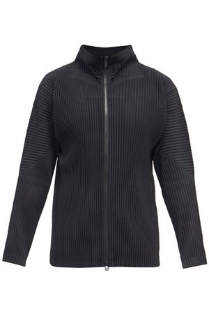 HOMME PLISSÉ ISSEY MIYAKE High-neck Technical-pleated Jersey Track Top - Mens