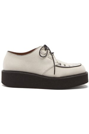 Marni Johnny Studded Suede Creeper Shoes - Womens