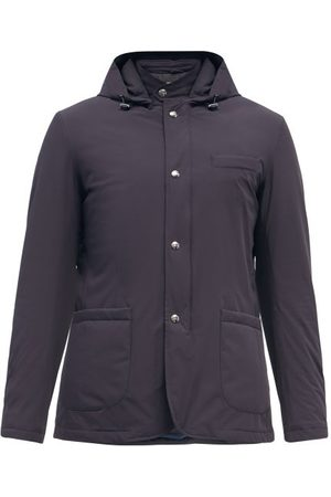 HERNO Packable Hooded Padded Jacket - Mens - Navy
