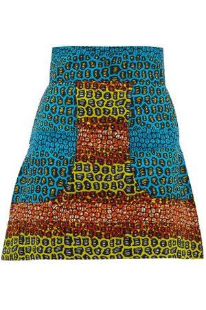 Lisa Folawiyo Pebble Ankara-print Cotton Mini Skirt - Womens - Multi