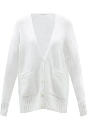 Another Tomorrow V-neck Cotton Cardigan - Womens