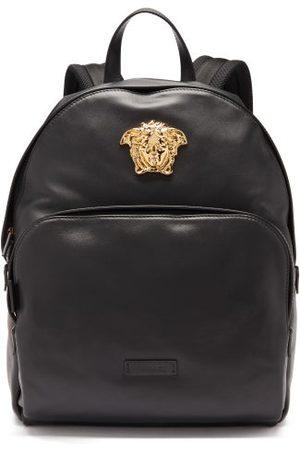 VERSACE Medusa Head Leather Backpack - Mens