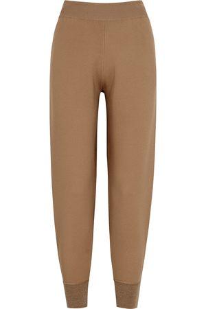 Stella McCartney Camel stretch-knit sweatpants