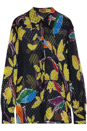 Missoni Woman Printed Crochet-knit Shirt Size 40