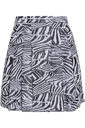 MISSONI Women Printed Skirts - Woman Pleated Crochet-knit Mini Skirt Animal Print Size 42
