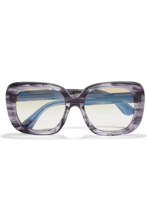 OLIVER PEOPLES Women Square - Woman Nella Oversized Square-frame Marbled Acetate Sunglasses Anthracite Size