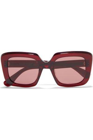 OLIVER PEOPLES Women Square - Woman Franca Oversized Square-frame Acetate Sunglasses Claret Size