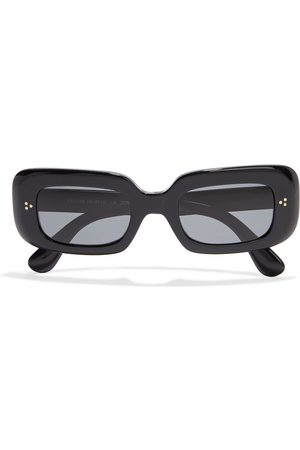 OLIVER PEOPLES Woman Saurine Rectangle-frame Acetate Sunglasses Size