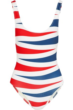 Solid Women Swimsuits - Woman The Anne-marie Printed Swimsuit Size S