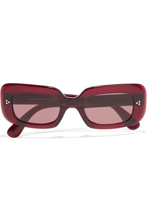 Oliver Peoples Women Square - Woman Saurine Rectangle-frame Acetate Sunglasses Claret Size