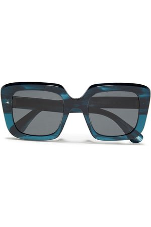 OLIVER PEOPLES Woman Franca Oversized Square-frame Acetate Sunglasses Petrol Size