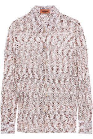 MISSONI Women Long sleeves - Woman Crochet-knit Shirt Blush Size 38